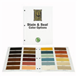 Stain & Seal Color Brochure - Actual Sample