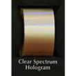 "Designer FoilFX Clear Spectrum Hologram (24"" x 100' roll)"