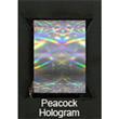 """Designer FoilFX Peacock Hologram (24"""" x 100' roll)"""