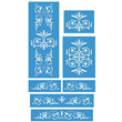 "Renaissance Furniture Set Stencil Small 7 Stencils 6.5""x8"", 12""x2.5"""