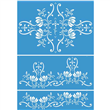 "Spring Garden Stencil Set 3 Layer 24.75""x17.5"", 24.75""x11"""