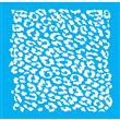 """Cheetah Stencil - 14"""" X 14"""" Single Layer"""