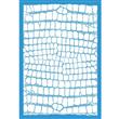 """Crocodile Skin Stencil - 25""""x17 3/4"""" Single Layer"""