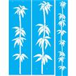 """Deco Bamboo Stencil Set - (2) 50"""" X 15"""" (1) 52"""" X 8.375"""" Single Layer"""