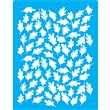 "Fall Leaves Small Stencil Single Layer 13"" x 13"""