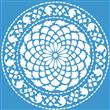 "Chrysanthamum Medallion Stencil 16""x16"""