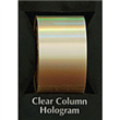 "Designer FoilFX Clear Column Hologram (24"" x 100' roll)"