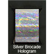 "Designer FoilFX Silver Brocade Hologram (24"" x 100' roll)"