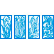 "Door Panel Blossom Set - 4 Layers 12""x24"""