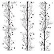 "Winter Forest EzElements - 30"" X 96"" (3) panels A,B,&C"