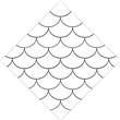 "Fish Scale StencilFX EzStick Stencil 6 Pack - 12""x12"""