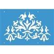 """Enhanced Fleur-de-lis Stencil 8""""x5"""""""