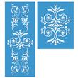 """Renaissance Furniture Stencil Set Large 24.75""""x10"""""""