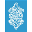 """Tropical Damask Stencil - Small Component - 12""""x8 3/4"""" Single Layer"""