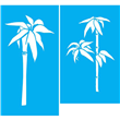"""Bamboo Elements  Stencil - 5.5""""x10"""" 5.75""""X9.5"""""""