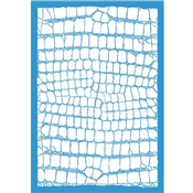 "Crocodile Skin Stencil - 25""x17 3/4"" Single Layer"