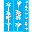 "Deco Bamboo Stencil Set - (2) 50"" X 15"" (1) 52"" X 8.375"" Single Layer"