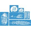 """Fossil Stencil Set (7)  10""""x8.5"""", 6""""x5"""", 16""""x7"""", (2) 3""""x9"""""""