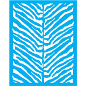"Urban Zebra Stencil Small - 24"" X 30.5"" Single Layer"