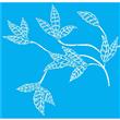 """Wondering Leaf Stencil 20"""" X 30"""""""